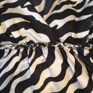 Trixxi Tops - Zebra striped halter Top